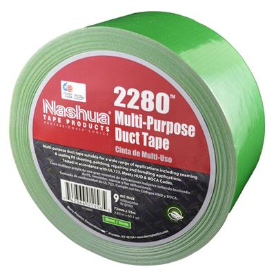 Cloth Duct Tape - Polyethylene Coated Green 2280 24MMx55M 9MIL 48/CS