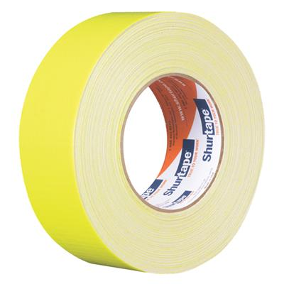 Cloth Duct Tape - Polyethylene Coated Neon Yellow PC619 48MMx55M 9MIL 24/CS
