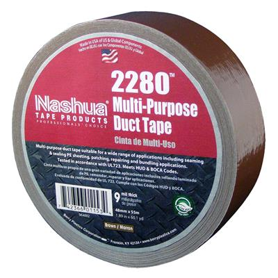 Cloth Duct Tape - Polyethylene Coated Brown 2280 24MMx55M 9MIL 48/CS