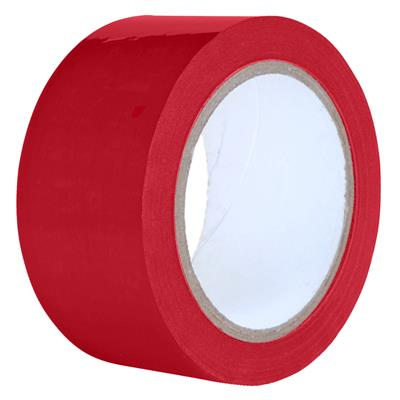 Packaging Tape - PVC Red PVC 12MMx66M 2.2MIL 144/CS