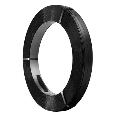 Steel Strapping - Regular Duty Black SS 3/4IN 0.02IN 50/KG 12/SKID