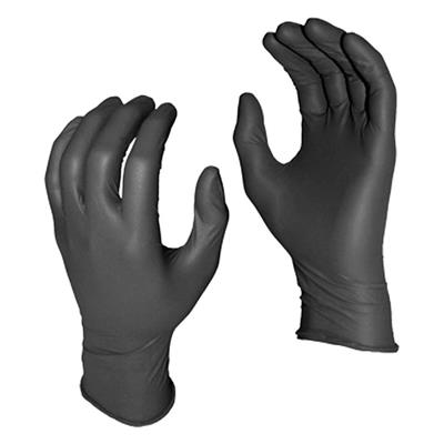 Gloves - Heavyweight Nitrile Disposable Grease Monkey® Black 5555PF 8MIL X-Large 50/BX