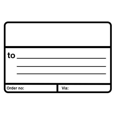 "Labels - ""Ship To"" with Printed Lines Black Print/White ST101 2.875INx4.5IN 500/RL"