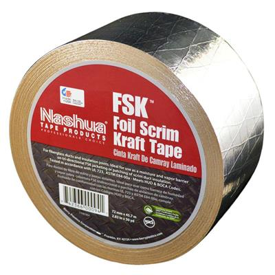 FSK Insulation Tape Silver 65200 72MMx46M 8MIL 16/CS