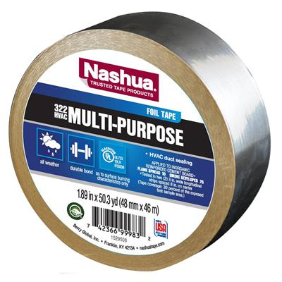 Foil Tape - Aluminum with Kraft Liner Silver 322 72MMx46M 2MIL 16/CS