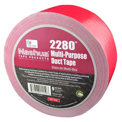Cloth Duct Tape - Polyethylene Coated Red 2280 24MMx55M 9MIL 48/CS