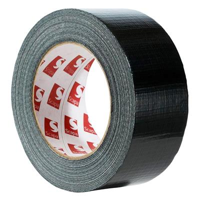 Cloth Duct Tape - Polyethylene Coated Black 442 72MMx55M 8.5MIL 16/CS