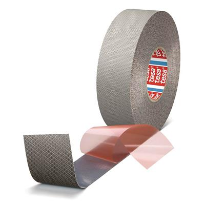Roller Wrapping Tape - Printers Friend® Embossed Silicone D/C Black 4863 48MMx25M 24MIL 6/CS