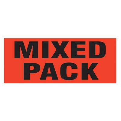 "Labels - ""Mixed Pack"" Black/Neon Red MPL105 2INx5IN 500/RL"