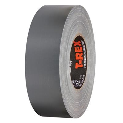 Cloth Duct Tape - Polyethylene Coated Heavy Duty T-REX® Silver PC745 48MMx36M 17MIL 24/CS
