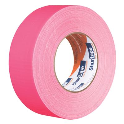 Cloth Duct Tape - Polyethylene Coated Neon Pink PC619 48MMx55M 9MIL 24/CS