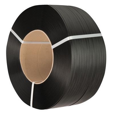 Strapping - Polypropylene Black PPS 0.5INx7200FT 600LB 8INx8IN Core