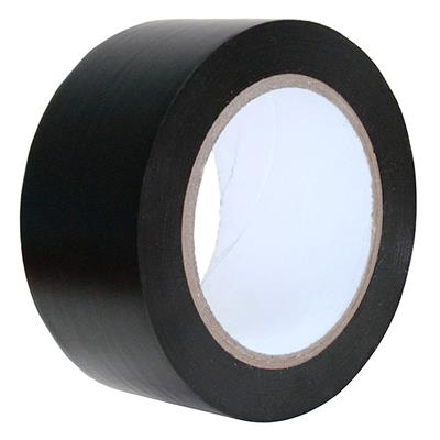 PVC Tape - Lane Marking Black LMT 24MMx33M 6MIL 12/CS