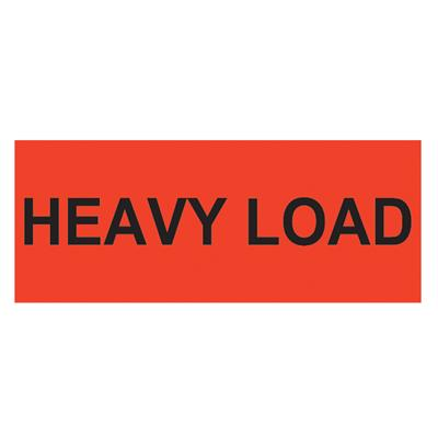 "Labels - ""Heavy Load"" Black/Neon Red BR134 2INx5-3/8IN 500/RL"