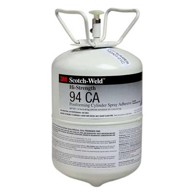 Spray Adhesive - Scotch-Weld™ High Strength Postforming Clear 94CA 7.6LB MINI CYLINDER 1/CS