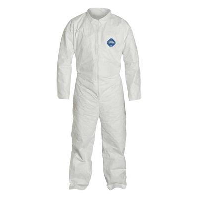 Coverall - Collar and Elastic Wrist White 223 Large 25/CS