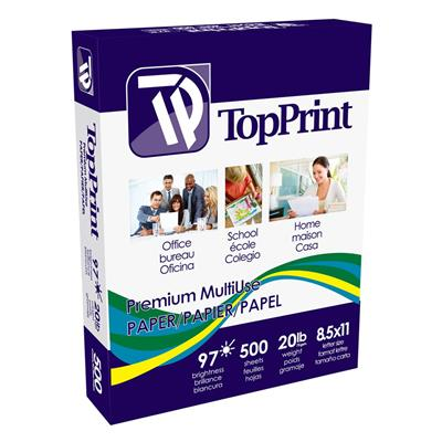 Copy Paper White CP-LTR 8.5INx11IN 20LB Letter Size 500/PK 5000/CS