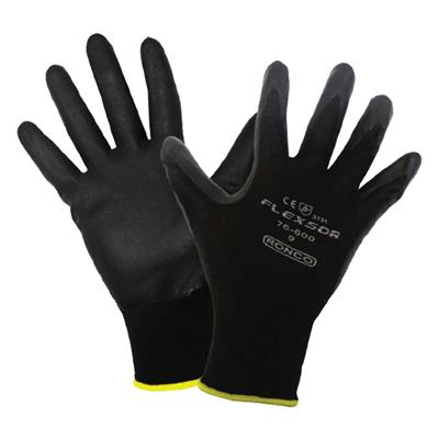 Gloves - Foam Nitrile Palm Coated Nylon Flexsor™ Black 76-600 Large 12PR/PK 72/CS