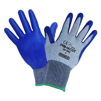 Gloves - Cut Resistant Nitrile Palm Coated HPPE PrimaCut™ Grey/Blue 69-560 Large 6PR/PK 48/CS