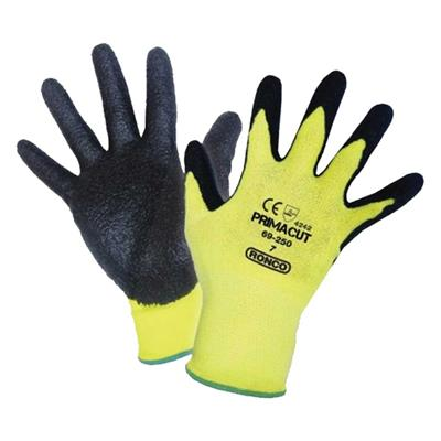 Gloves - Cut Resistant Nitrile Palm Coated Aramid PrimaCut™ Yellow/Black 69-250 X-Large 6PR/PK 48/CS