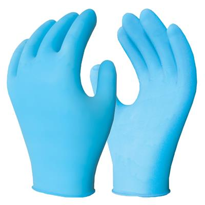 Gloves - Disposable Examination Powder Free Blue Nitech® 5MIL 375 Medium 100/BX 10/CS