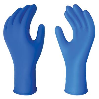 Gloves - Latex Examination Powder Free Blue Silktex® XPL 12IN 13MIL 895XPL X-Large 50/BX 500/CS