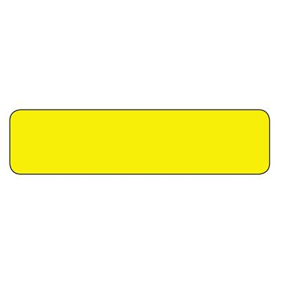 Labels - Plain Blank Yellow PBL-C 1INx4IN 500/RL