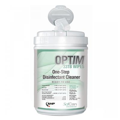Cleaner - Disinfectant Wipes Optim 33TB 7INx7IN 160 WIPES 24/CS